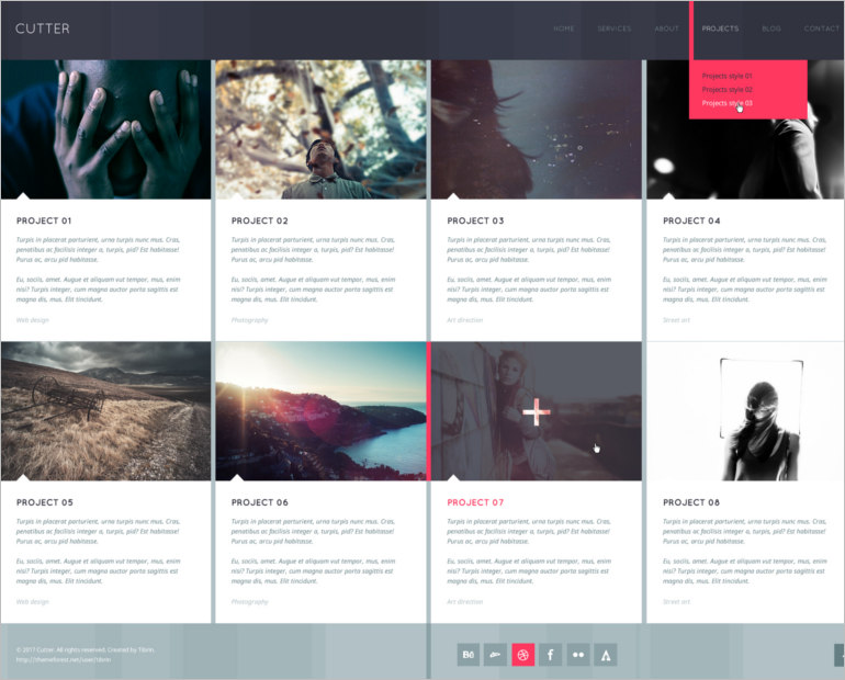 psd site template