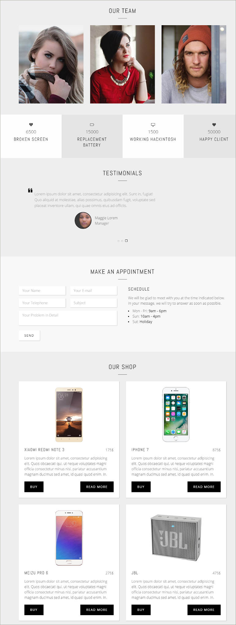 repair shop html5 template