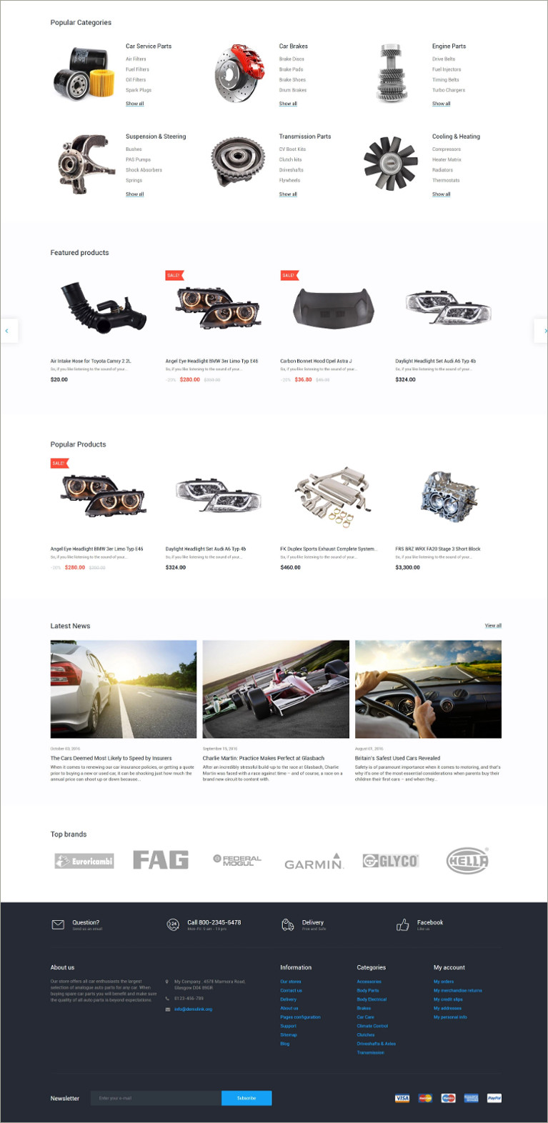 spare part prestashop template