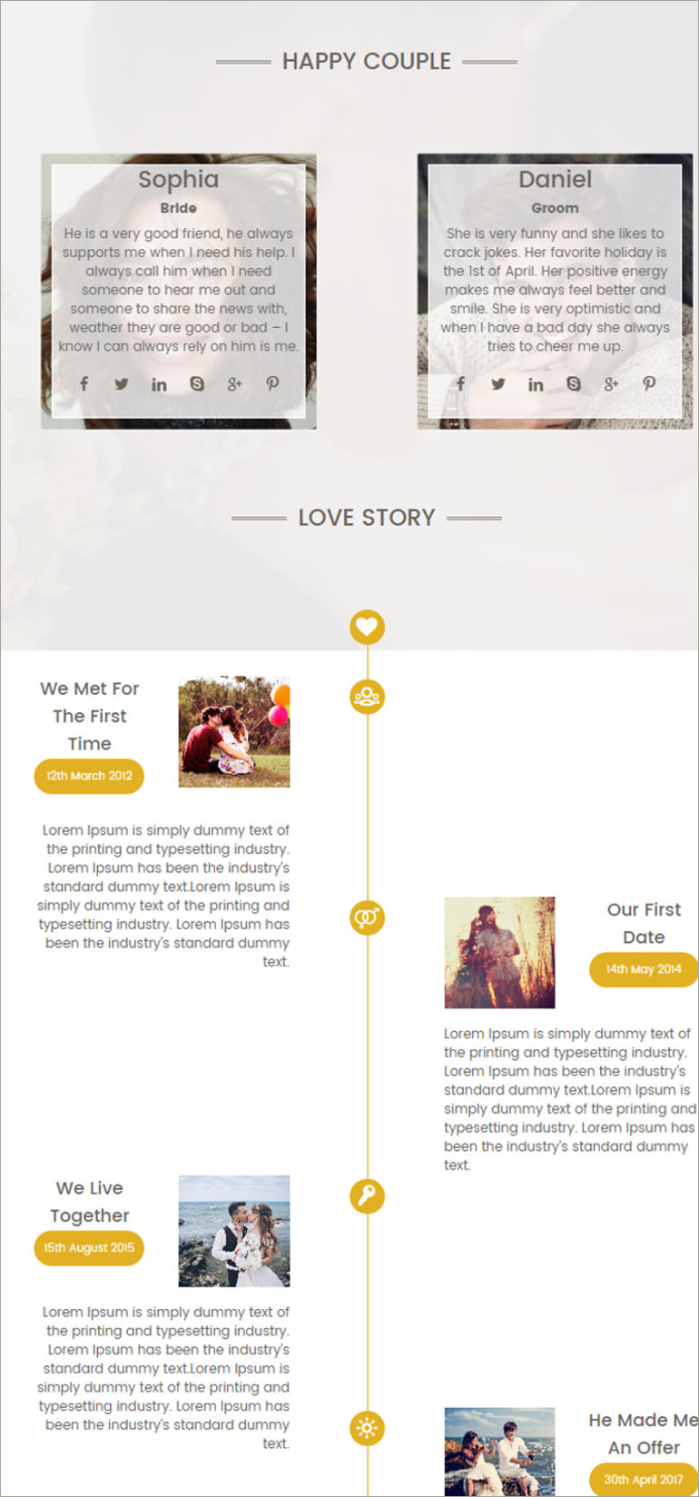wedding coming soon website template