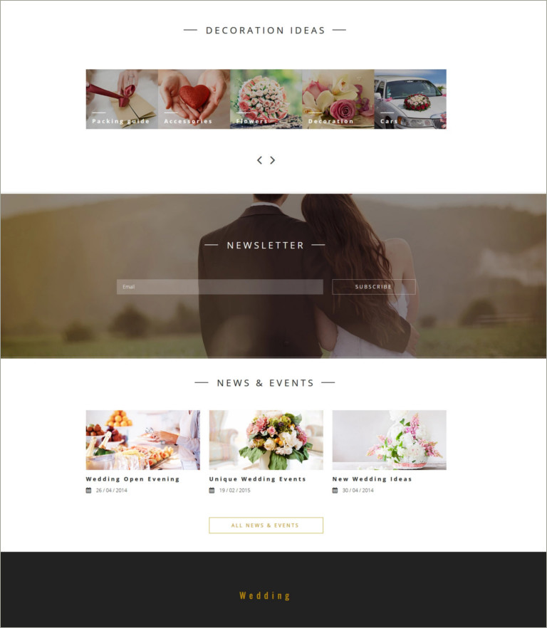 wedding planer joomla template