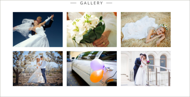 wedding planner gallery