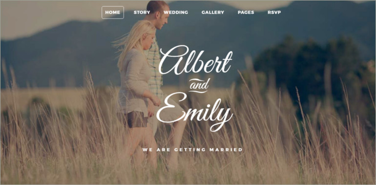 wedding site template
