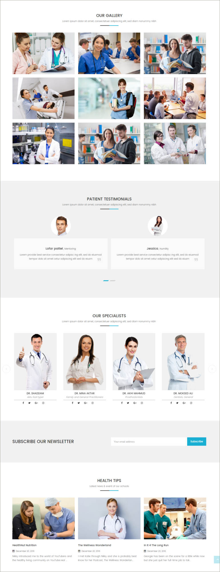 wordpress theme for medical purpose
