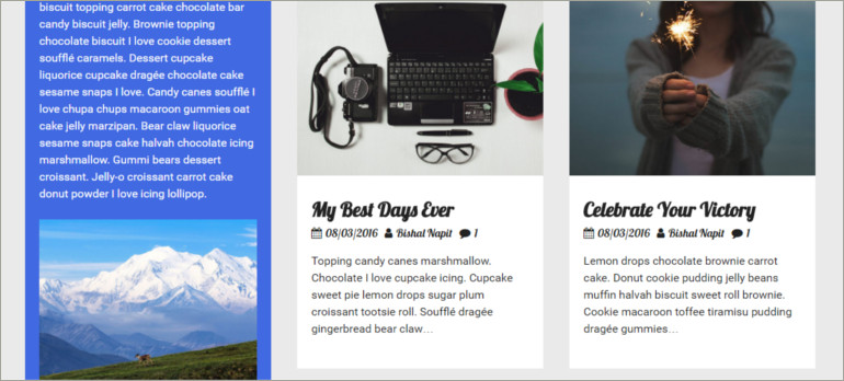 wp blogging theme