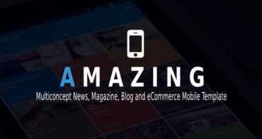 Amazing eCommerce Mobile Template