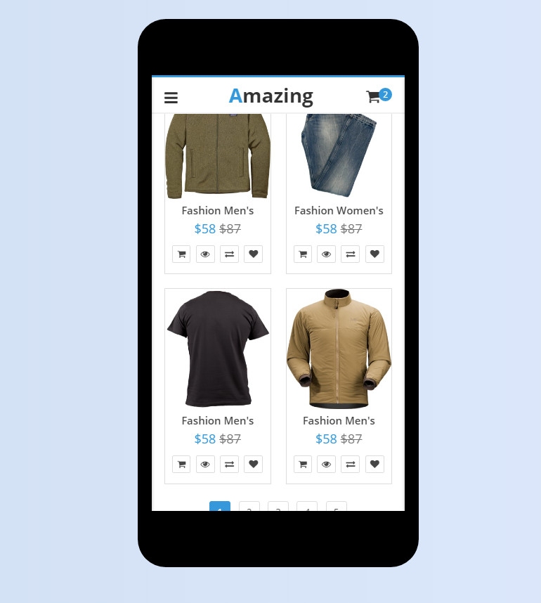Blog and eCommerce Mobile Template