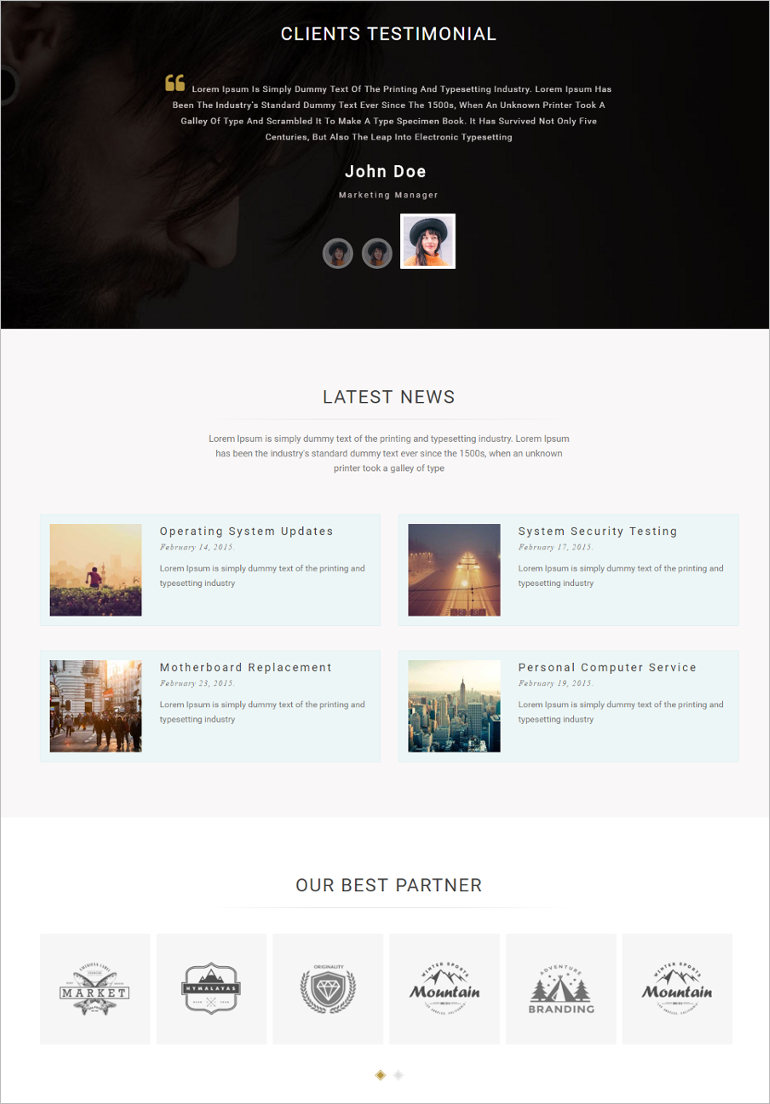 Business & Portfolio Template