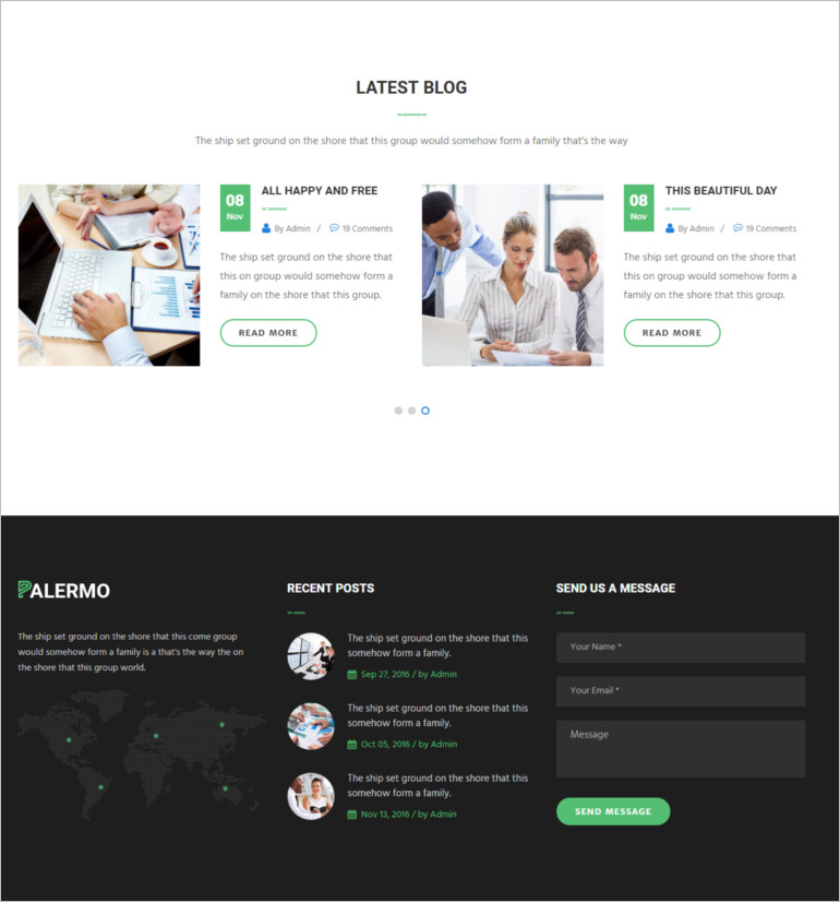 Coaching html template