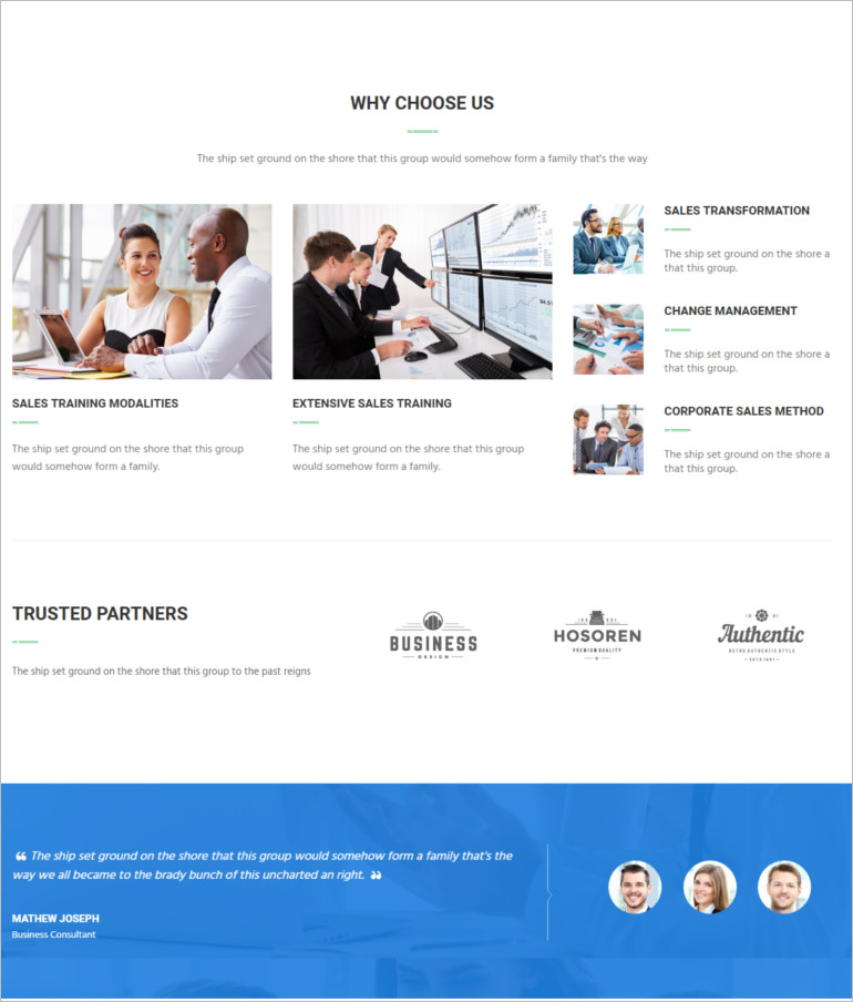 Consulting business template