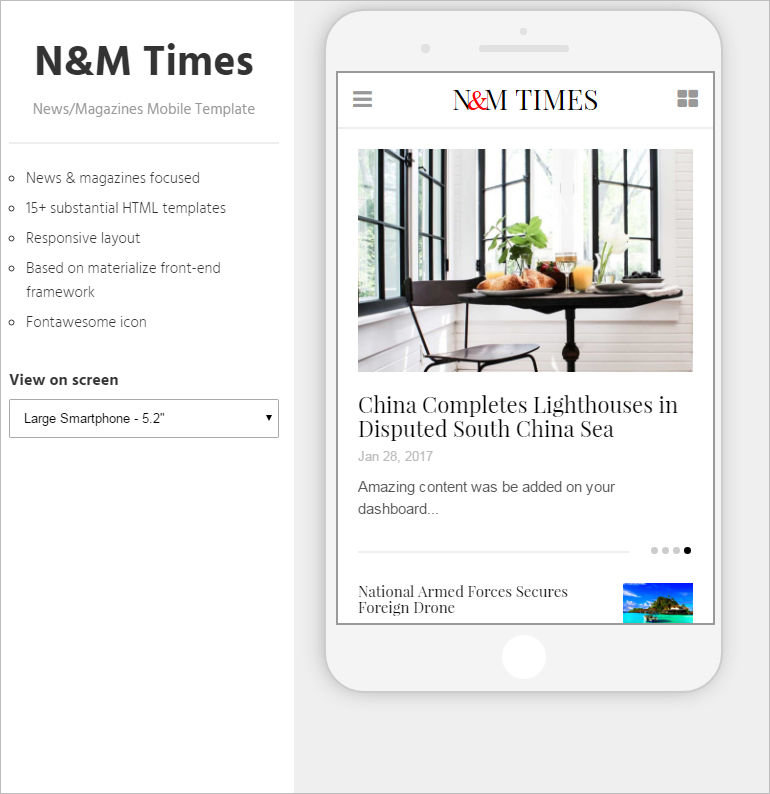 Magazines Mobile Template