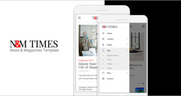 News-Magazines Mobile Template