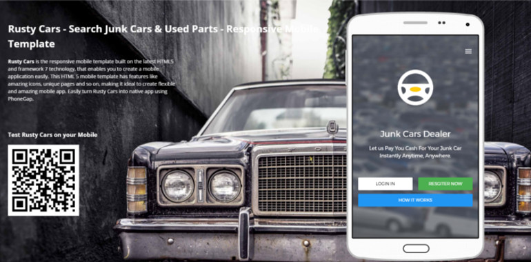 Search Junk Cars & Used Parts template