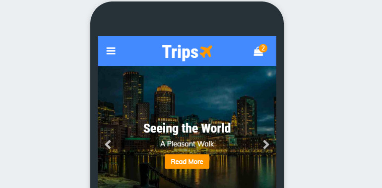 Tours and Travel Mobile Template
