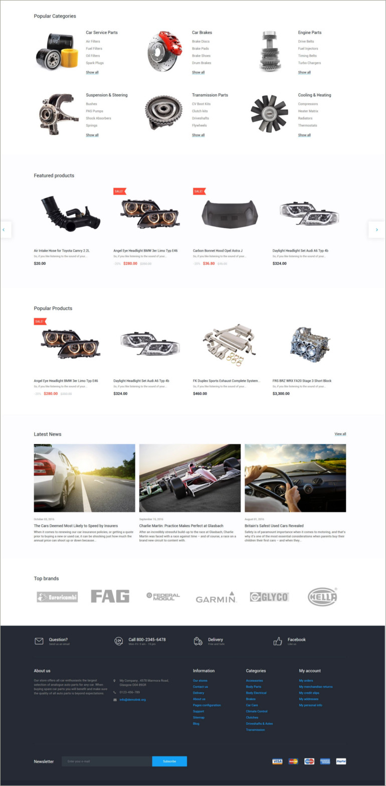 auto tools prestashop theme