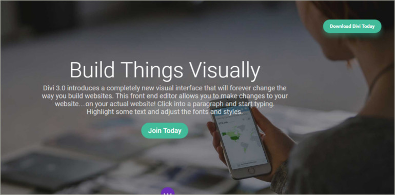 build things visually wordpress theme