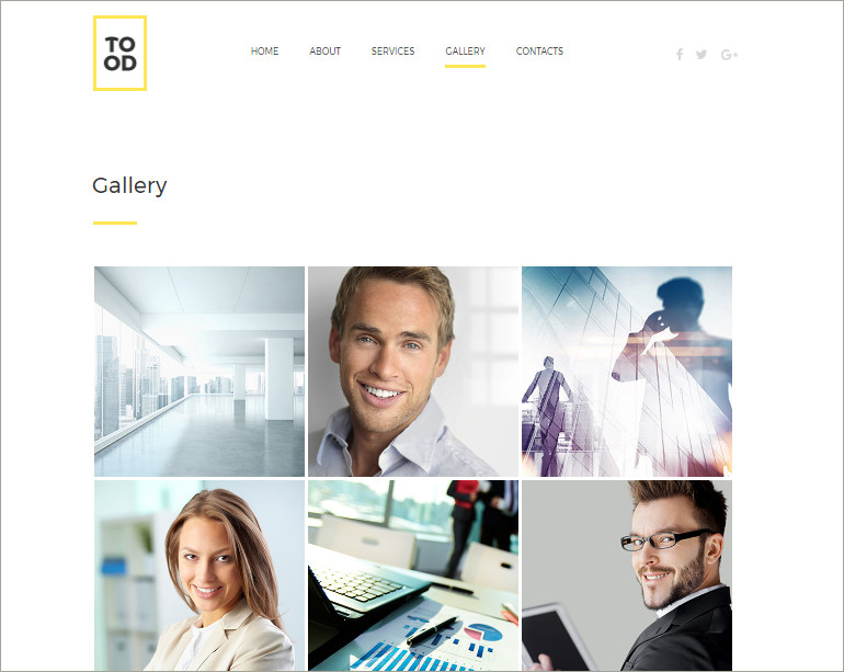 business html gallery