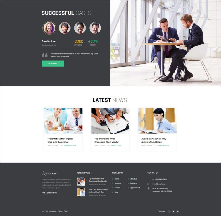 consulting website theme