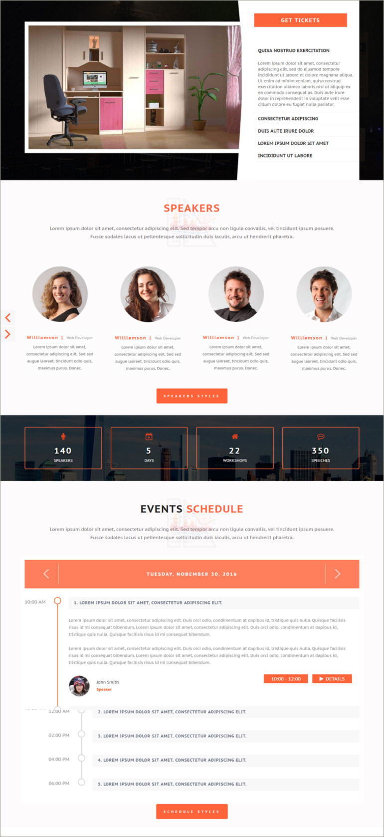 event & conference site template