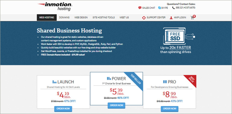 hosting services pricing plans