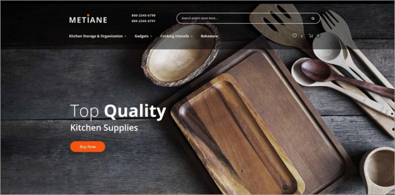 kitchen supply website theme