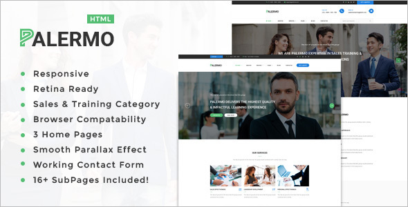 premium HTML template with its design