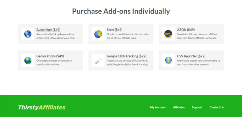 purchase add ons