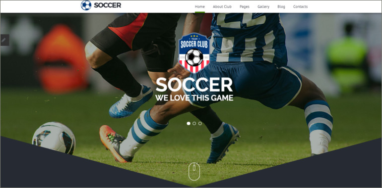 soccer club website theme