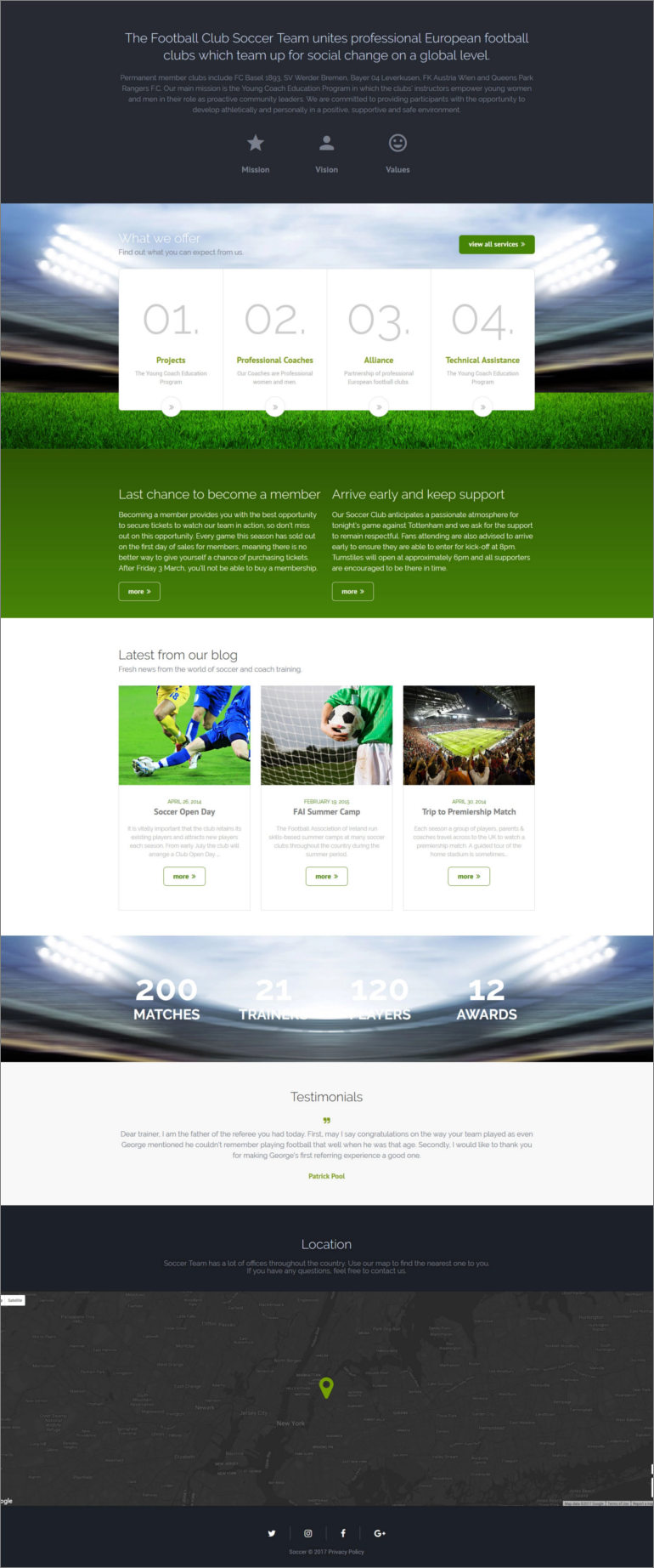 soccer play website template