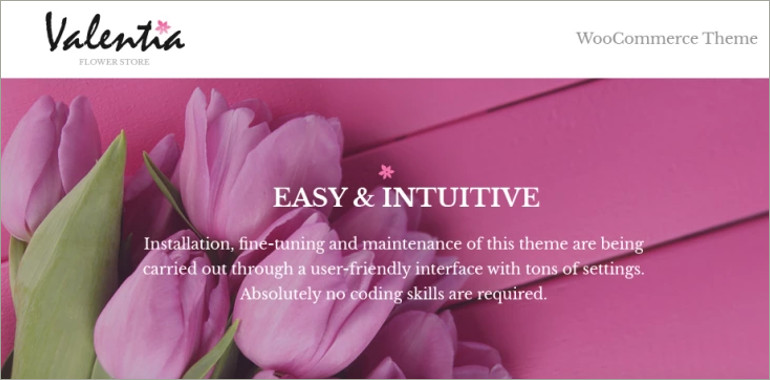 woocommerce theme for flower store