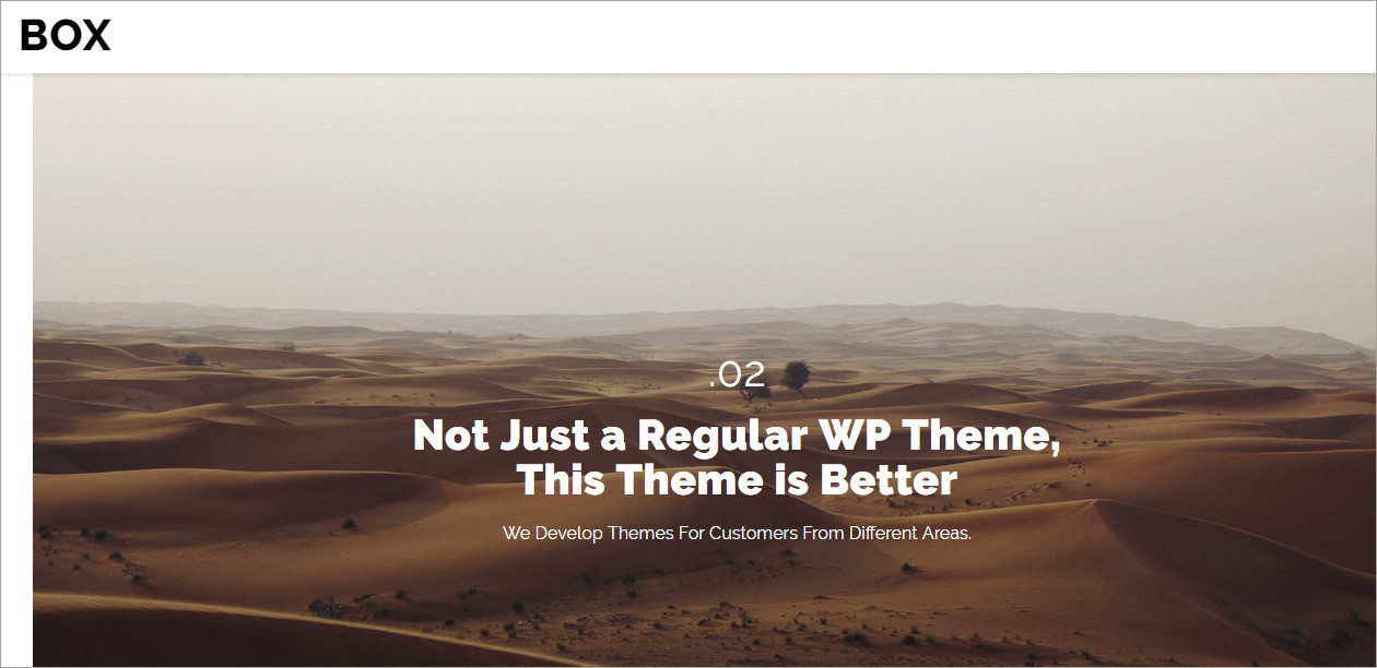 wordpress box theme