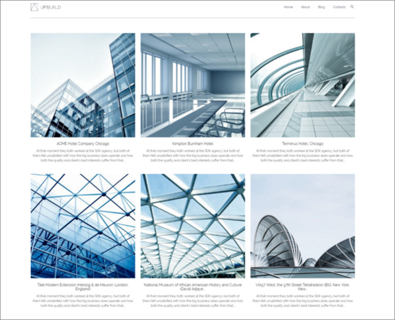 wordpress theme for architecture company