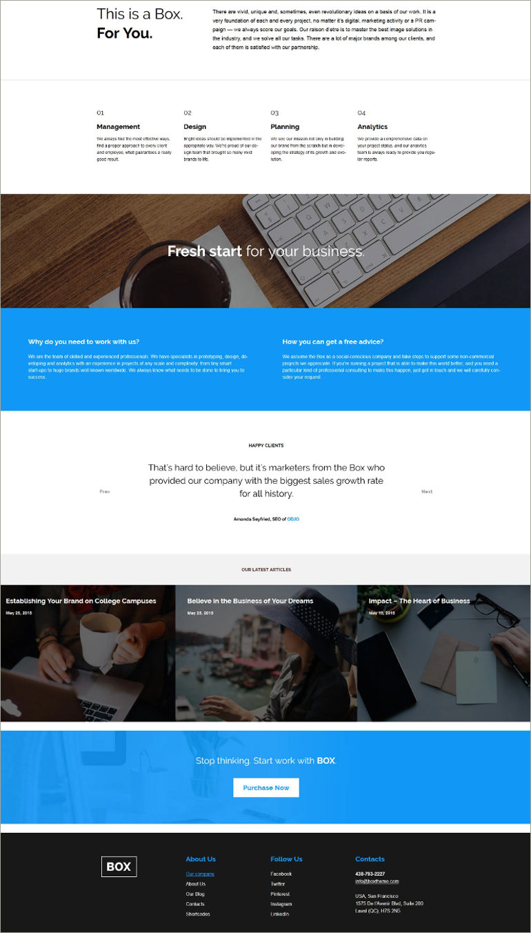 wordpress webdesigning theme