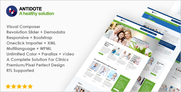 Antidote Medical WordPress Theme