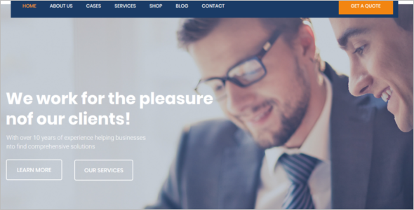 Business Advisor Joomla Template