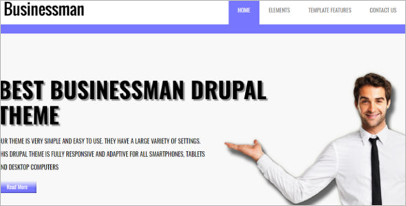Business Responsive Drupal Theme
