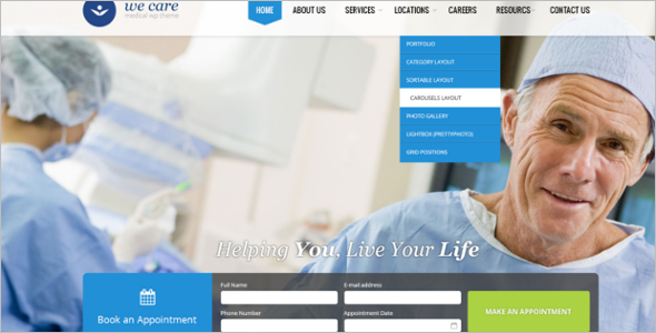 Clean Medical WordPress Theme