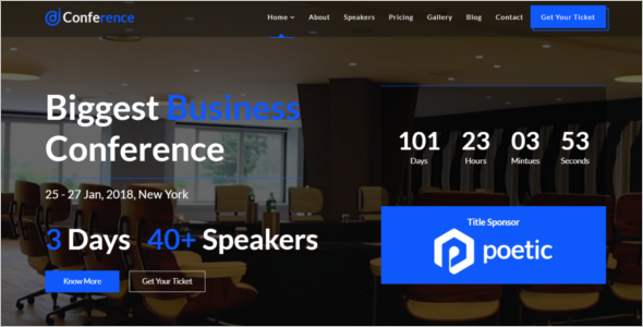 Conference Joomla Template