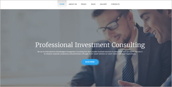 Financial Advisor Joomla Template