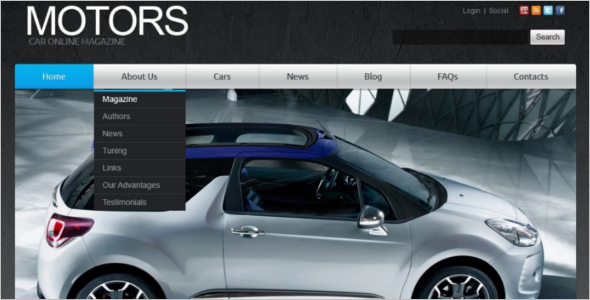 Free Car Joomla Template