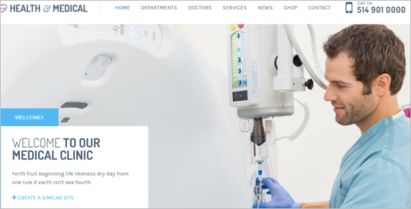 Fully Responsive Medical WordPress Theme