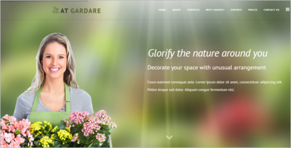 Garden Decorative Joomla Template