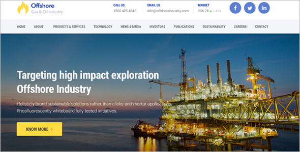 Gas & Oil WordPress Theme