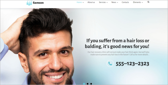 Hair Clinic WordPress Theme