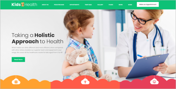 Kids Clinic WordPress Theme