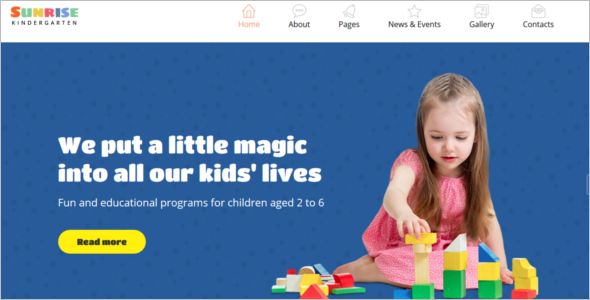 Kid's joomla Template
