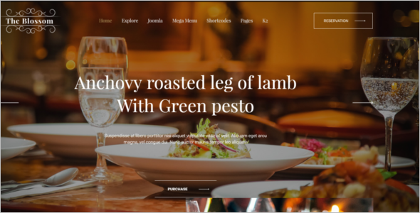 Luxury Restaurant Joomla Template