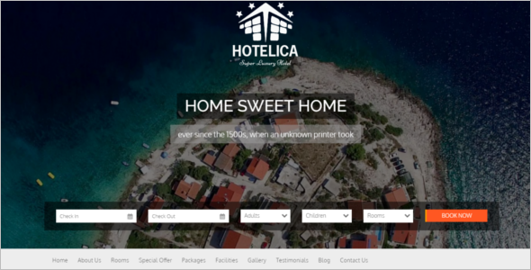 One Page Hotel WordPress Theme