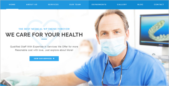 Optimizable Medical WordPress Theme