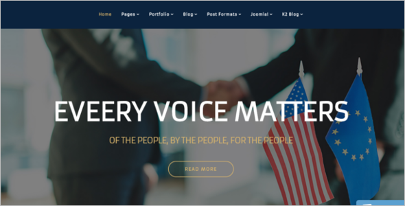 Politics Joomla Template